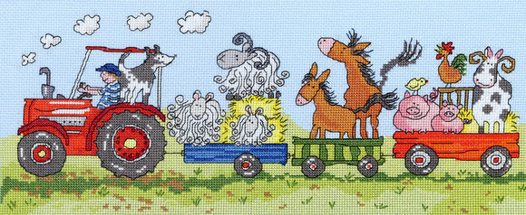 Old MacDonald Cross Stitch Kit By Bothy Threads