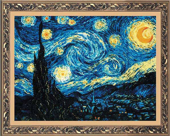 Starry Night Cross Stitch Kit By RIOLIS