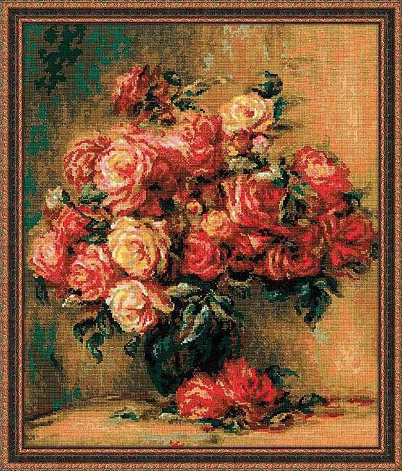 Bouquet of Roses Cross Stitch Kit By RIOLIS