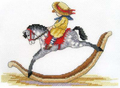 Rocking Horse All Our Yesterdays Cross Stitch Kit by Faye Whittaker