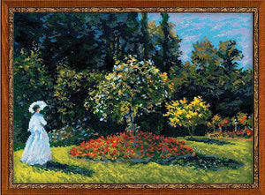 Woman in the Garden Cross Stitch Kit By RIOLIS