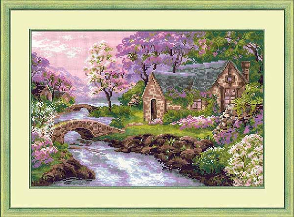 Spring View Cross Stitch Kit By RIOLIS