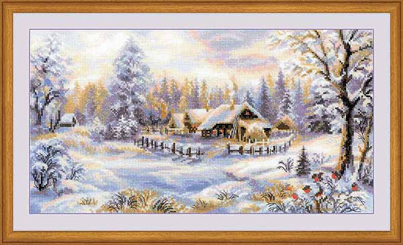 Winter Evening Cross Stitch Kit By RIOLIS