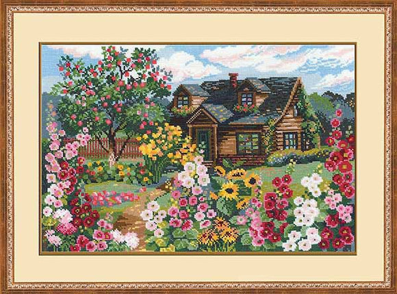 Flowering Garden Cross Stitch Kit By RIOLIS