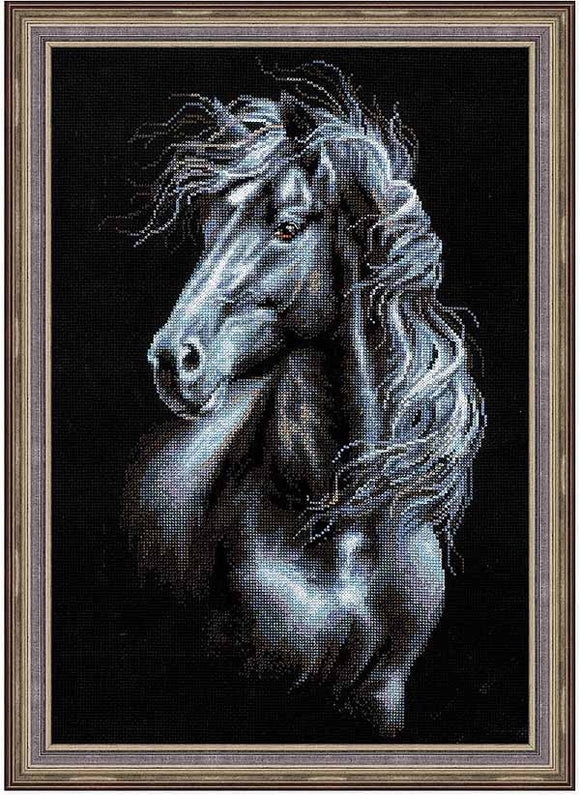 Breeze Through Mane Cross Stitch Kit By RIOLIS
