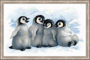 Funny Penguins Cross Stitch Kit By RIOLIS