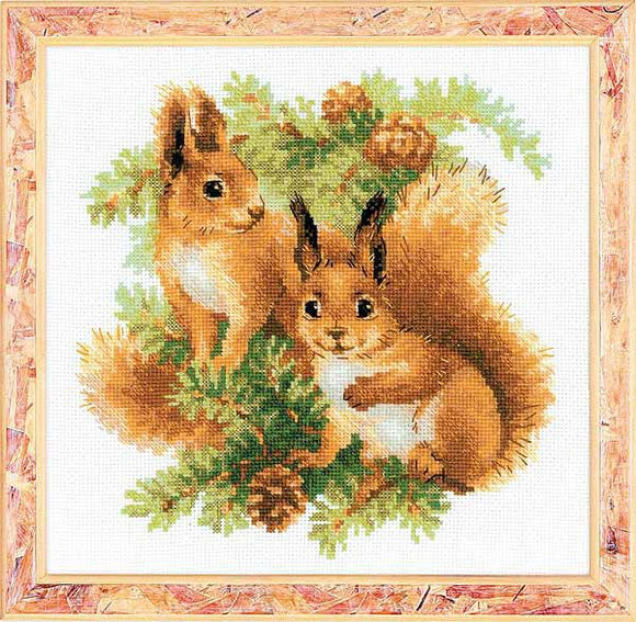 Squirrels Cross Stitch Kit By RIOLIS