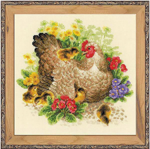 Hen Cross Stitch Kit By RIOLIS