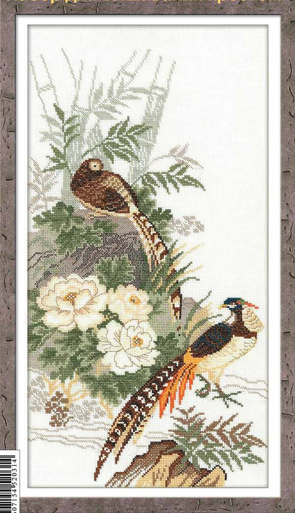 Pheasants Cross Stitch Kit By RIOLIS