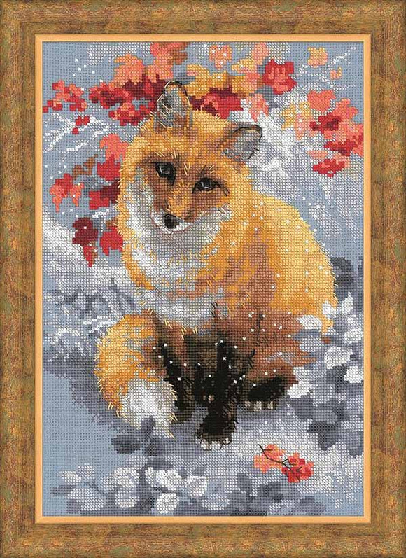 Fox Cross Stitch Kit By RIOLIS