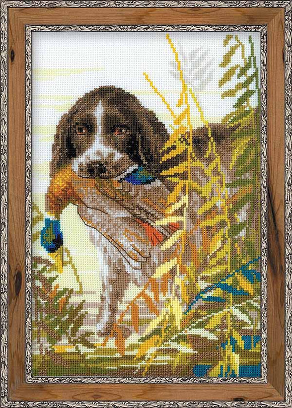 Spaniel Cross Stitch Kit By RIOLIS