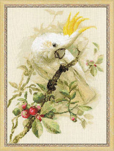 White Cockatoo Cross Stitch Kit By RIOLIS