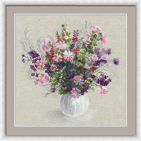 Summer Bouquet Cross Stitch Kit By RIOLIS