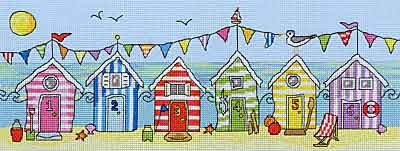 Beach Hut Fun Cross Stitch Kit By Bothy Threads