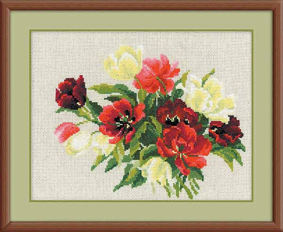 Tulips Cross Stitch Kit By RIOLIS