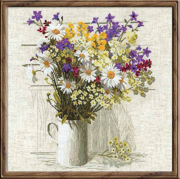 Wildflowers Cross Stitch Kit By RIOLIS
