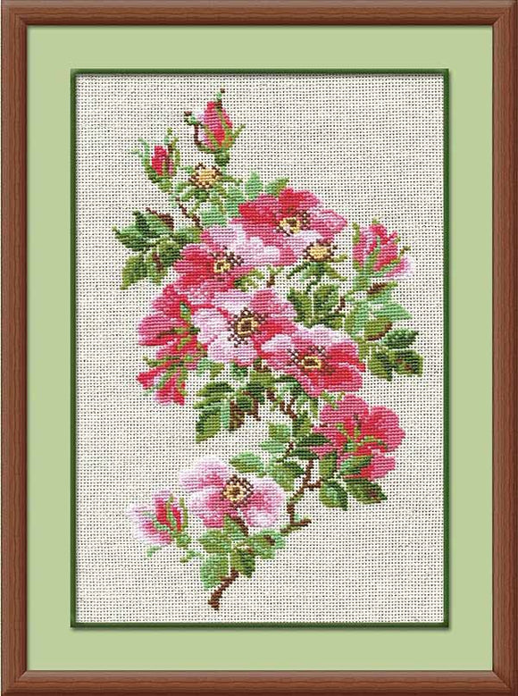 May Wild Rose Cross Stitch Kit By RIOLIS
