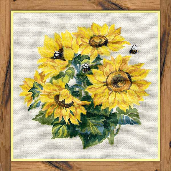 Sunflowers Cross Stitch Kit By RIOLIS