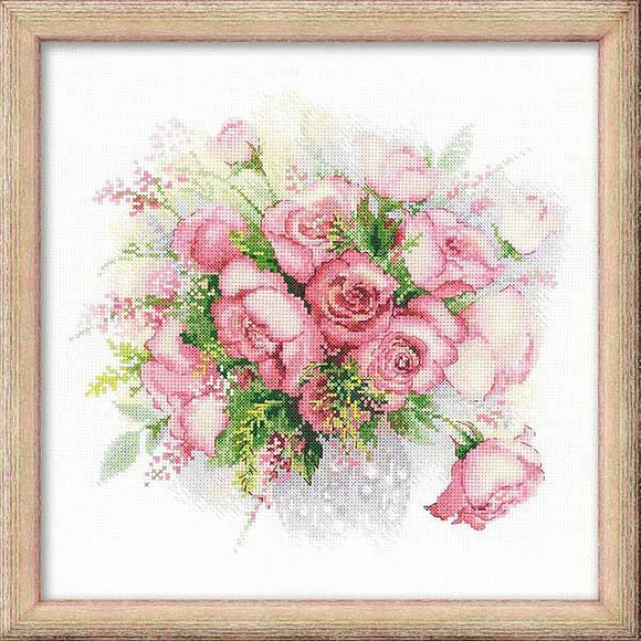 Watercolour Roses Cross Stitch Kit By RIOLIS
