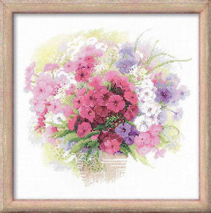 Watercolour Phlox Cross Stitch Kit By RIOLIS