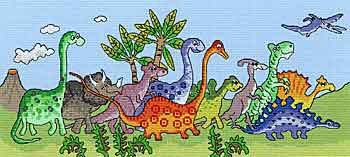 Dinosaur Fun Cross Stitch Kit By Bothy Threads