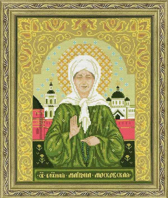 Blessed Matrona of Moscow Cross Stitch Kit By RIOLIS