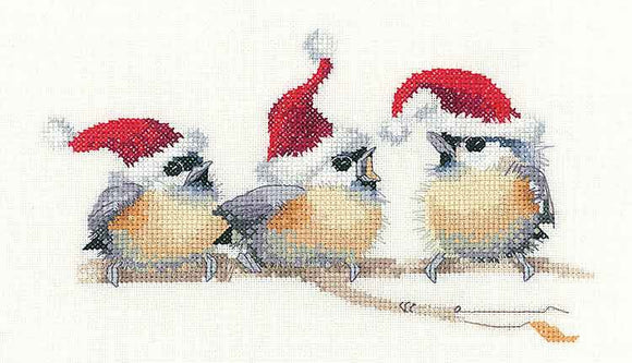 Festive Chicks Cross Stitch Kit by Heritage Crafts