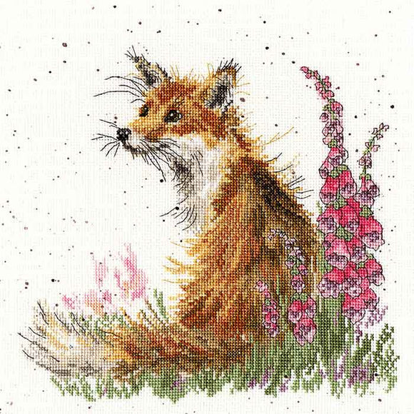 Amongst the Foxgloves Cross Stitch Kit By Bothy Threads