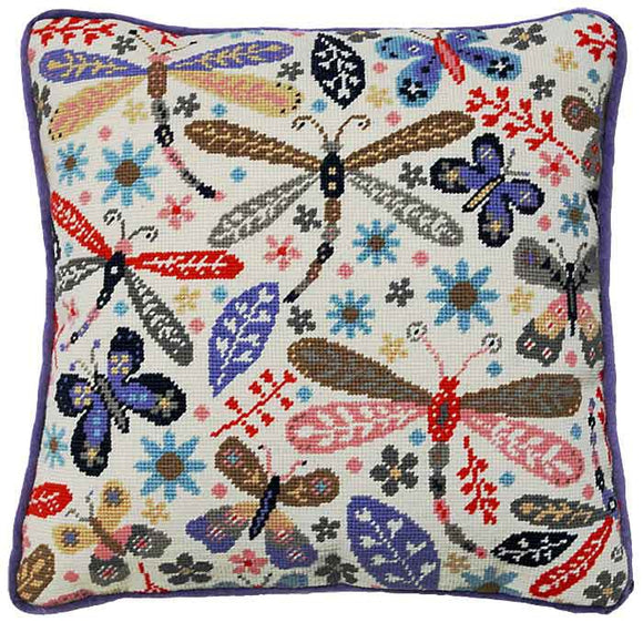 Dragonfly Tapestry Cushion Kit By Bothy Threads