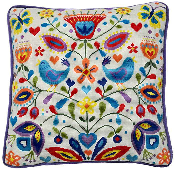 Summer Melody Tapestry Cushion Kit By Bothy Threads