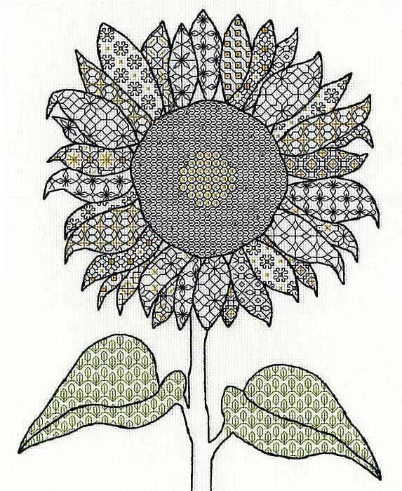 Sunflower Blackwork Kit By Bothy Threads