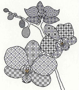 Orchid Blackwork Kit By Bothy Threads