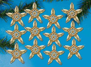Elegant Stars Christmas Decoration Beading Kit by Design Works