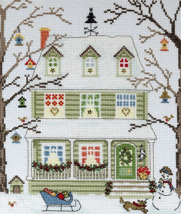 New England Homes Winter Cross Stitch Kit By Bothy Threads