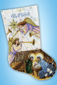 Herald Angels Christmas Stocking Cross Stitch Kit by Design Works