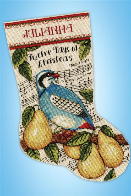 Partridge Christmas Stocking Cross Stitch Kit by Design Works