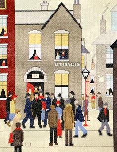 The Arrest Lowry Cross Stitch Kit By Bothy Threads