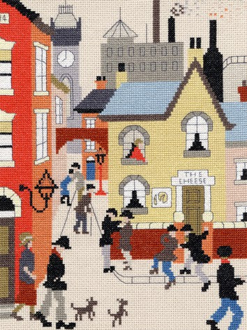 The Cheese Lowry Cross Stitch Kit By Bothy Threads
