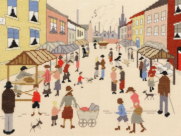 Friday Market Lowry Cross Stitch Kit By Bothy Threads