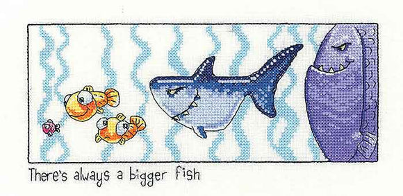Always a Bigger Fish Cross Stitch Kit by Heritage Crafts