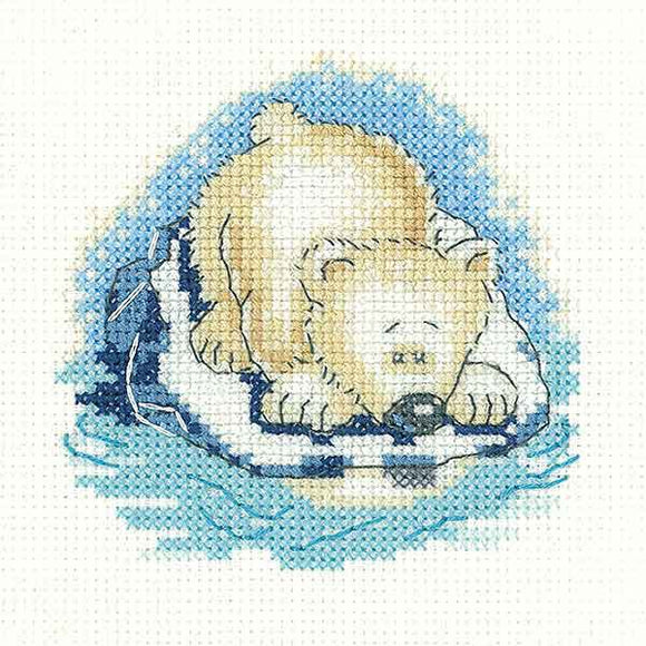 Paula Bear Cross Stitch Kit by Heritage Crafts