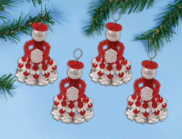 Winter Girls Ornaments Christmas Decoration Beading Kit by Design Works