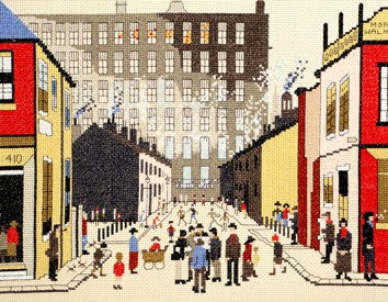 Street Scene Lowry Cross Stitch Kit By Bothy Threads