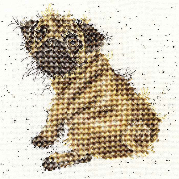 Pug Cross Stitch Kit By Bothy Threads