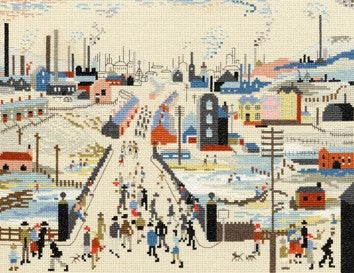 The Canal Bridge Lowry Cross Stitch Kit By Bothy Threads
