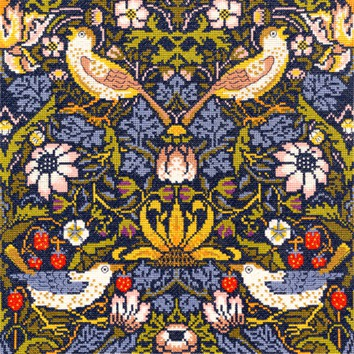 Strawberry Thief William Morris Cross Stitch Kit By Bothy Threads
