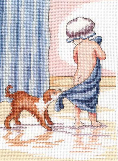Play With Me All Our Yesterdays Cross Stitch Kit by Faye Whittaker