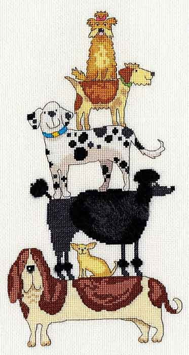 Dog Stack Cross Stitch Kit By Bothy Threads