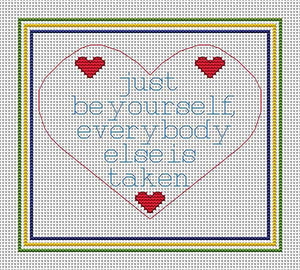 Be Yourself Cross Stitch Kit by September Cottage Crafts