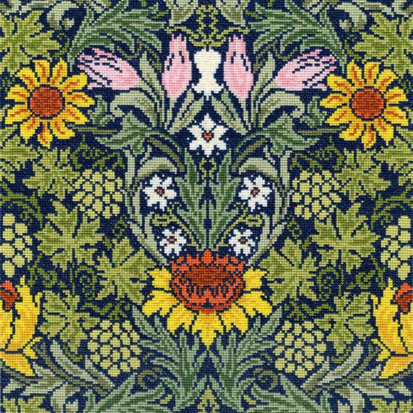 Sunflowers William Morris Cross Stitch Kit By Bothy Threads